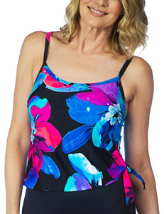 Maxine of Hollywood Black Multi Swimsuit Tops Tankini
