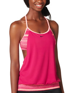 Nike Stripe Sport Tankini Swim Top