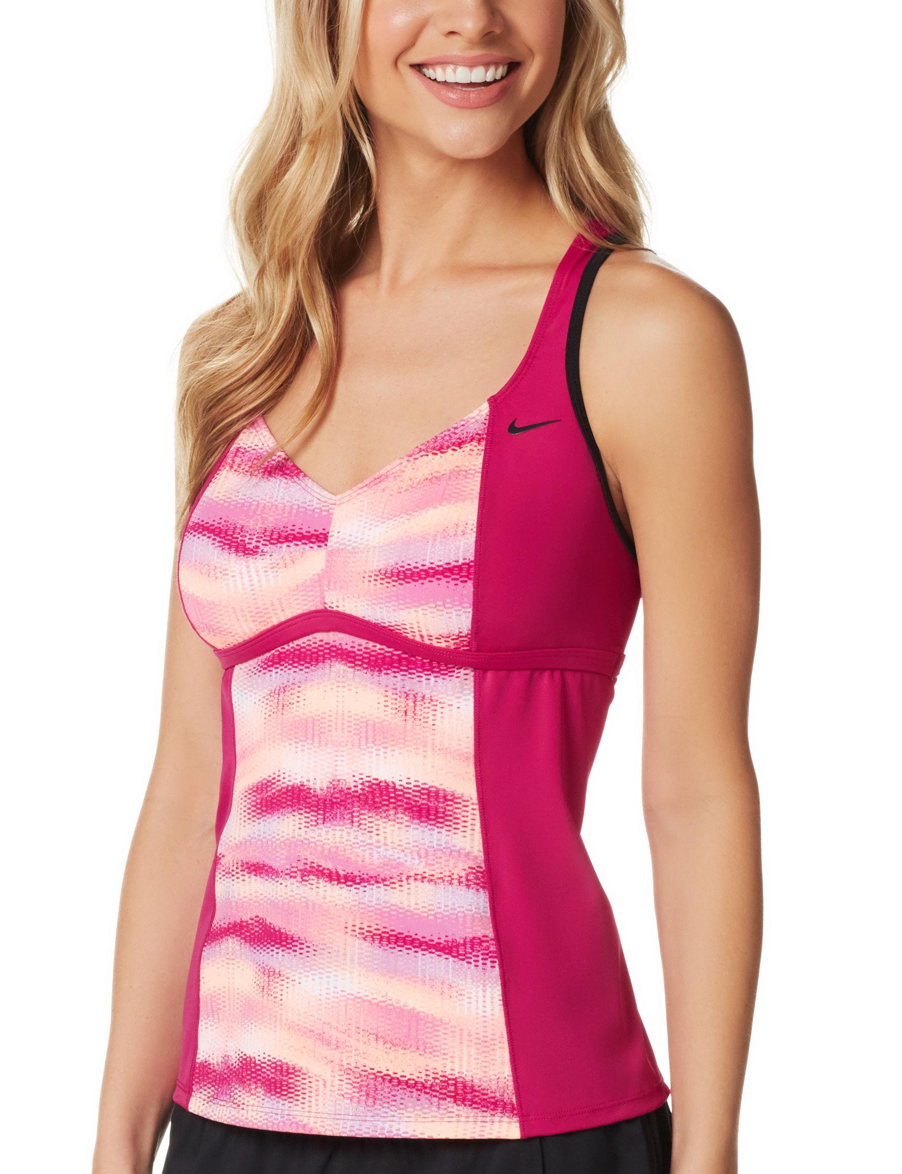 Nike Pink Swimsuit Tops Tankini