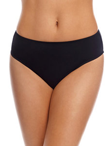 Caribbean Joe Black Swimsuit Bottoms Hipster