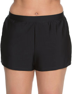 Beach Diva Black Swimsuit Bottoms Boyshort