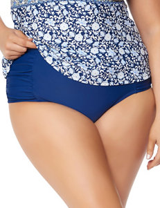 Jessica Simpson Plus-size Blue High Waisted Swim Bottoms