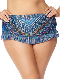Jessica Simpson Plus-size Dusty Road Ruffle Skirtini Swim Bottoms