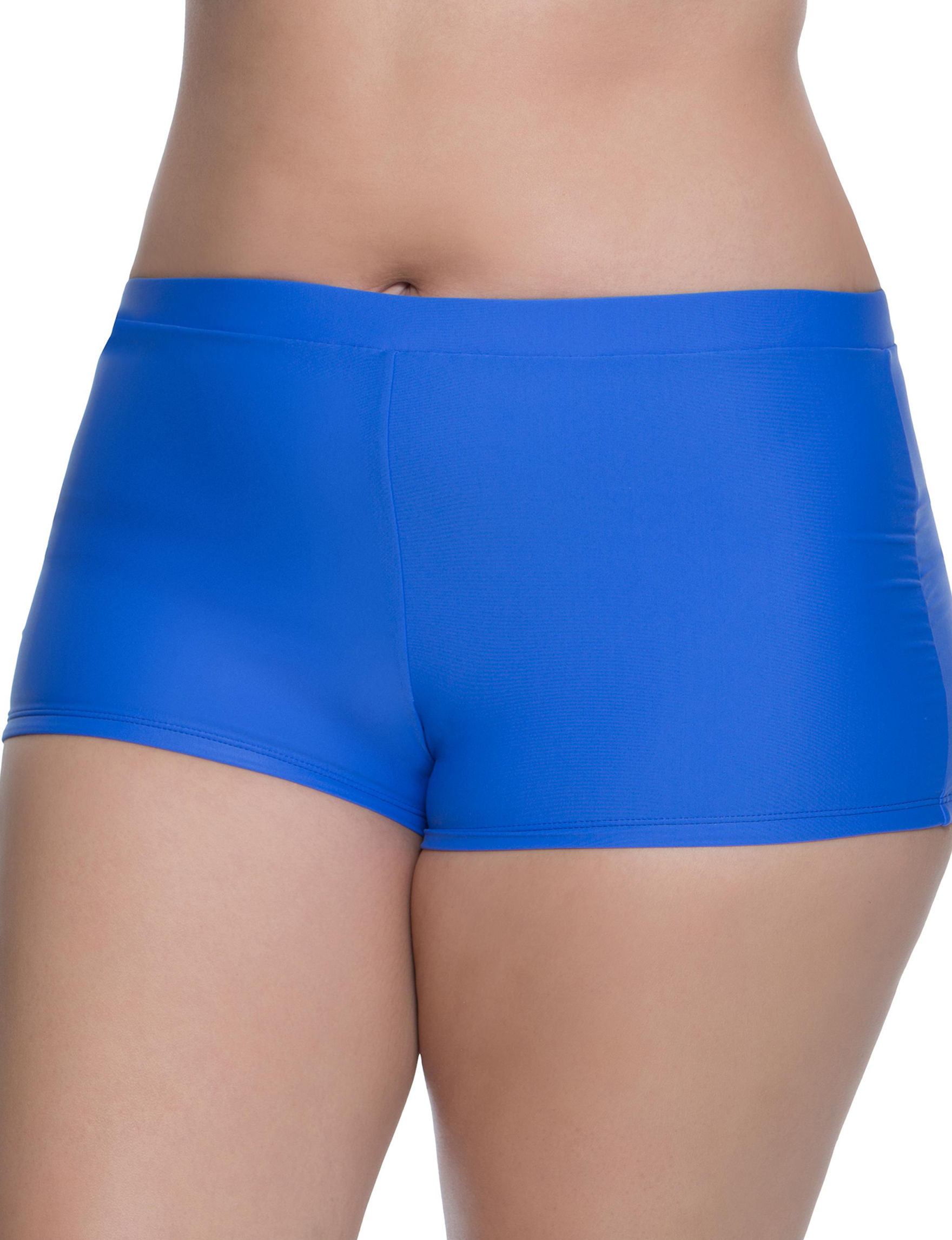 Polka Dot Cobalt Blue Swimsuit Bottoms Boyshort