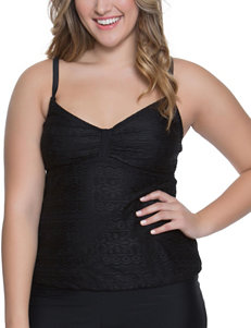 Beach Diva Black Swimsuit Tops Tankini