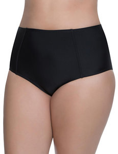 Polka Dot Black Swimsuit Bottoms High Waist