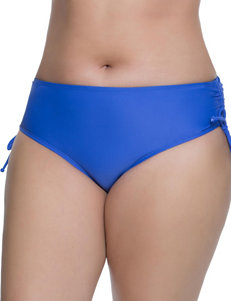 Beach Diva Cobalt Blue Swimsuit Bottoms Hipster