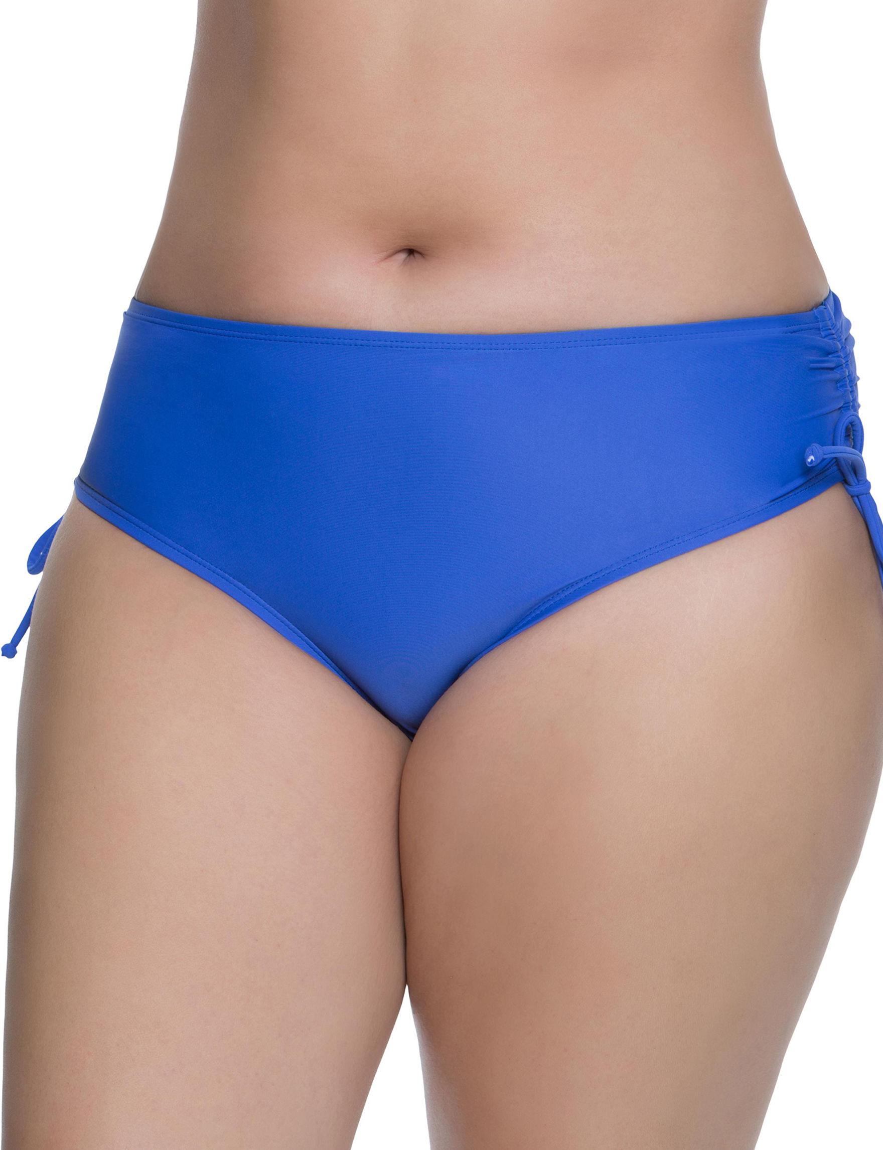Beach Diva Cobalt Blue Swimsuit Bottoms Hipster