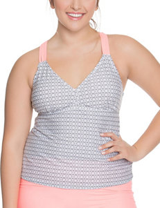 Beach Diva Charcoal Swimsuit Tops Tankini