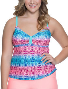 Polka Dot Blue Swimsuit Tops Tankini