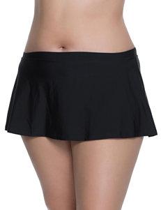 Polka Dot Black Swimsuit Bottoms Skirtini