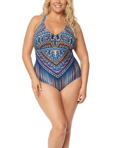 Jessica Simpson Blue Multi One-piece Swimsuits Tankini