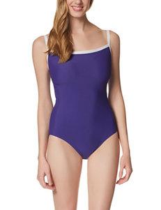 Penbrooke Purple One-piece Swimsuits Tankini