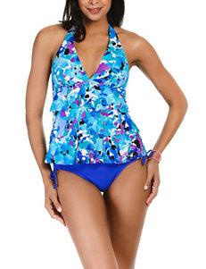 Caribbean Joe Black Swimsuit Tops Tankini