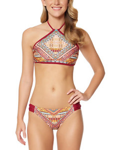 Jessica Simpson Day Tripper Shirred Hipster Swim Bottoms