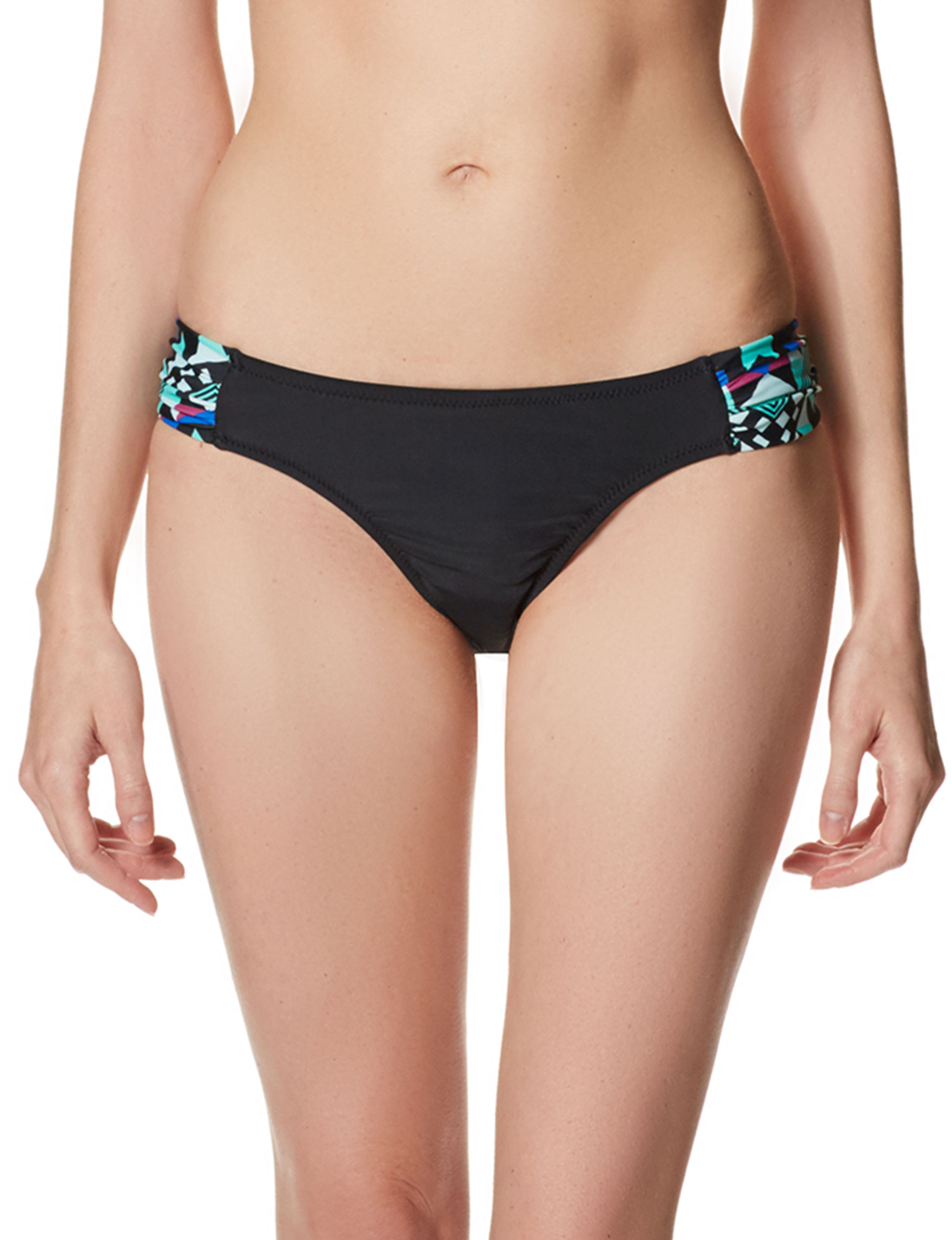 Pink Envelope Black Swimsuit Bottoms Hipster