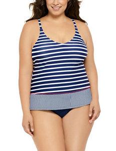Costa del Sol Black / Navy Swimsuit Tops Tankini