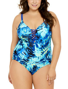 Costa del Sol Juniors-plus Lace-up One-Piece Swimsuit