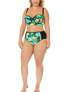 Allure Juniors-plus Tropical Midkini Swim Top