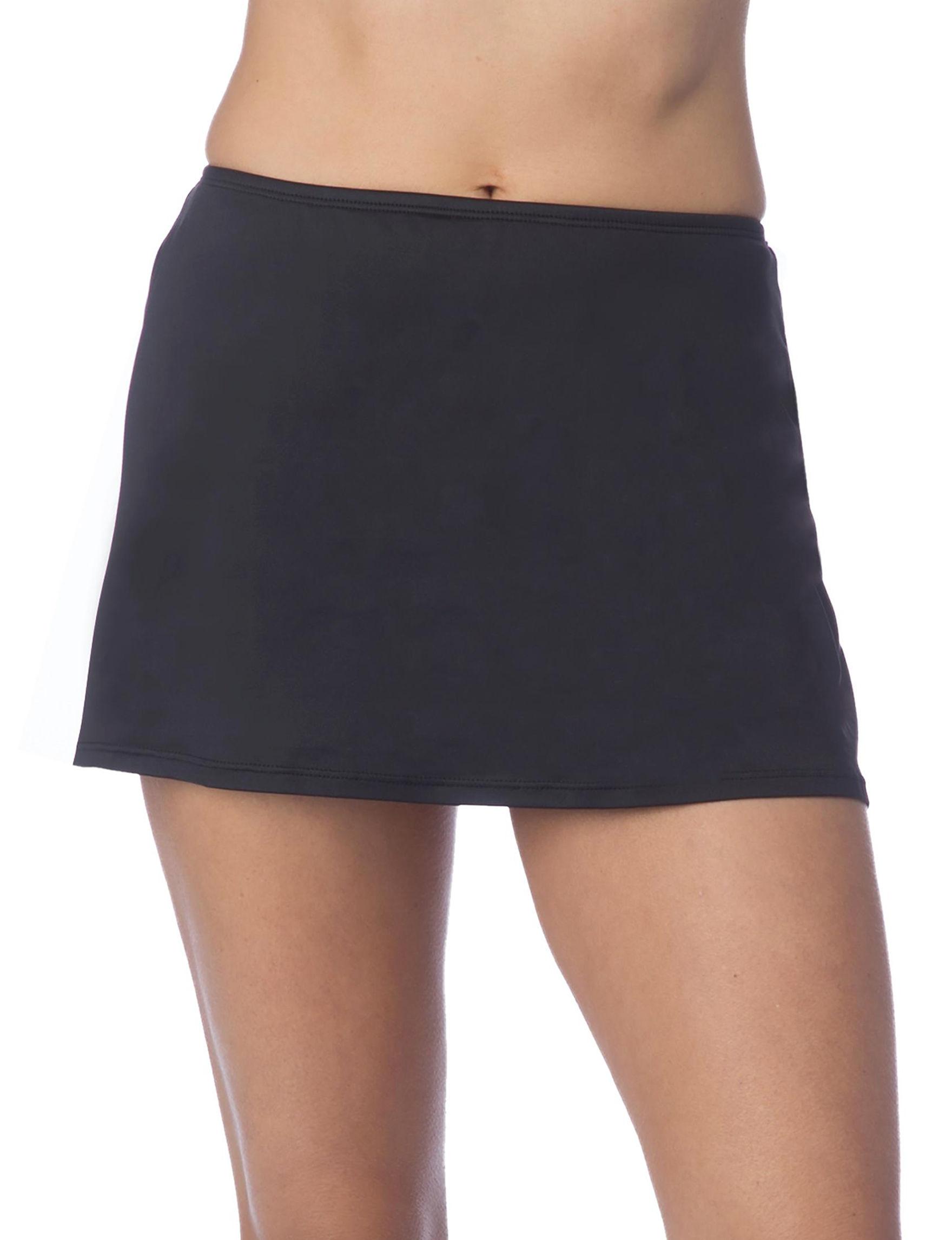 Ocean Avenue Black Swimsuit Bottoms Skirtini