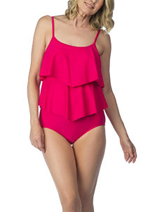 Maxine of Hollywood Medium Red One-piece Swimsuits Tankini