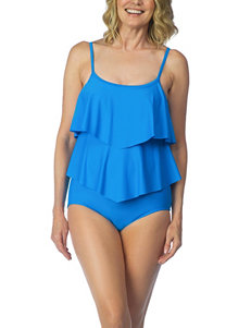 Maxine of Hollywood Blue One-piece Swimsuits Tankini
