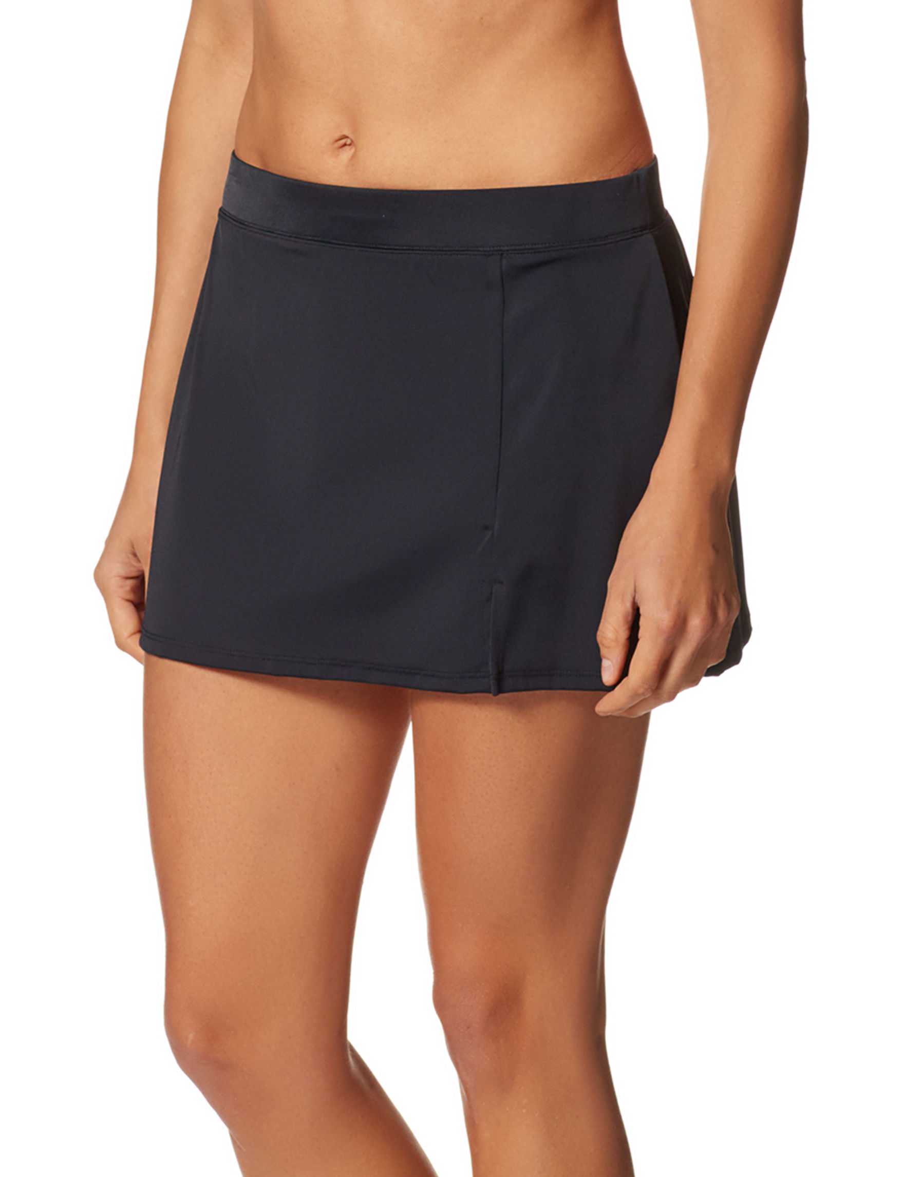 Caribbean Joe Black Swimsuit Bottoms Skirtini
