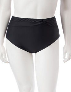 Pink Envelope Black Swimsuit Bottoms High Waist