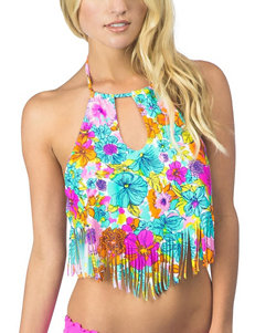 Hobie Multi Swimsuit Tops Bralette High Neck