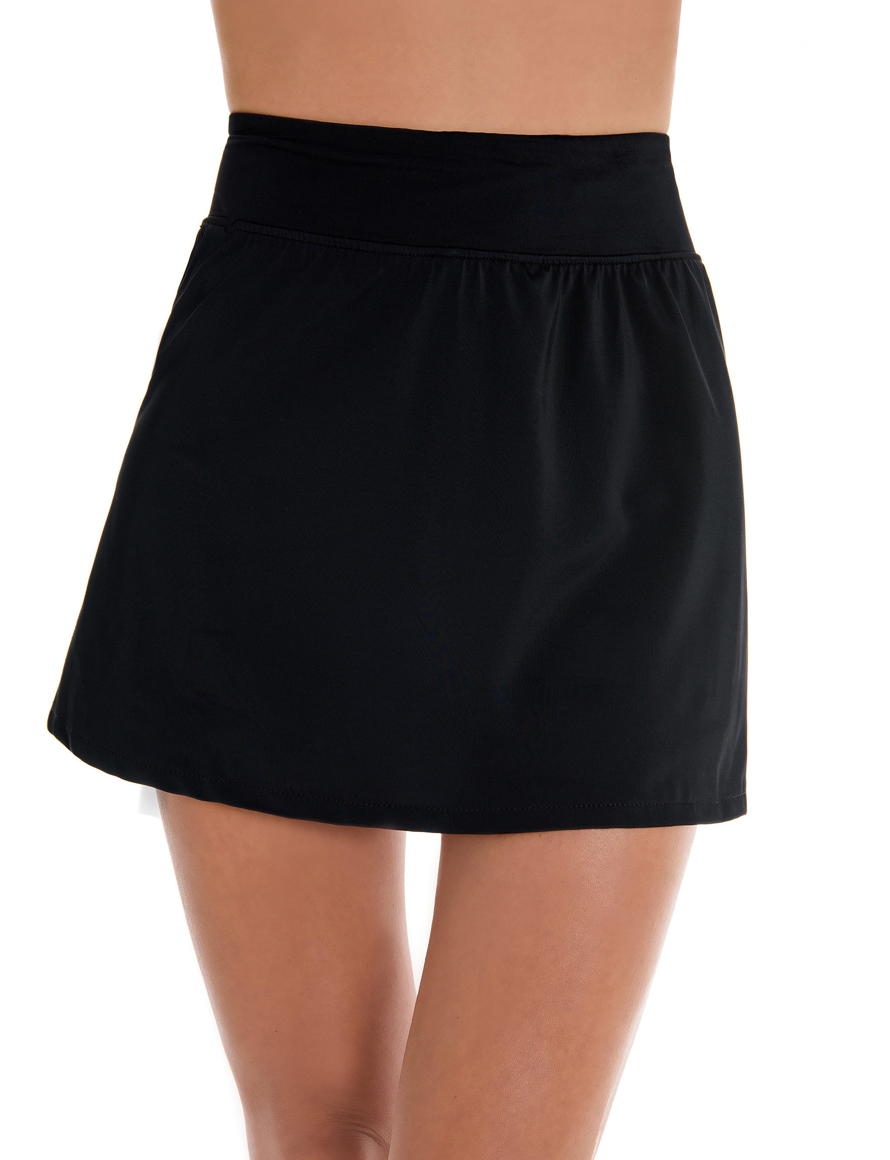 Trimshaper Black Swimsuit Bottoms Skirtini