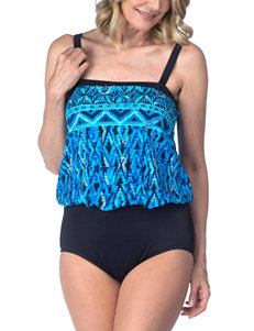 Maxine of Hollywood Blue One-piece Swimsuits Bandeau