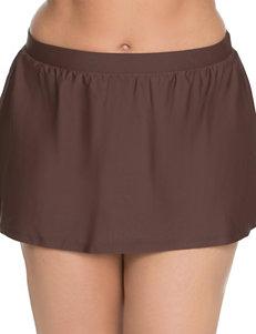 Beach Diva Dark Brown Swimsuit Bottoms Skirtini