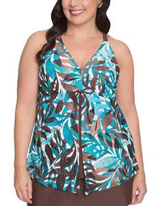 Beach Diva Dark Brown Swimsuit Tops Tankini