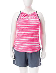 Free Country Pink / Grey Swimsuit Tops Tankini
