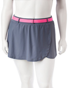 Free Country Plus-size Belted Swim Skirt