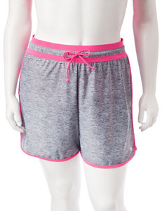 Free Country Grey / Pink Swimsuit Bottoms Boyshort
