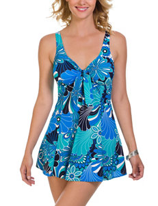 Penbrooke Blue One-piece Swimsuits