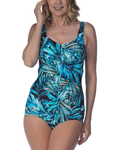 Maxine of Hollywood Blue One-piece Swimsuits