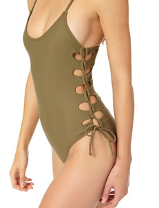 In Mocean Green One-piece Swimsuits Bandeau