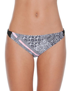 Polka Dot Black / Pink Swimsuit Bottoms Hipster