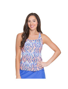 Beach Diva Blue Multi Swimsuit Tops Tankini