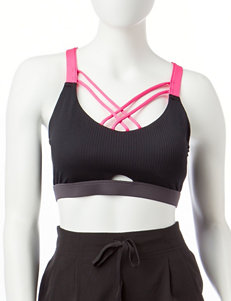 RBX Black / Pink Sports Bra
