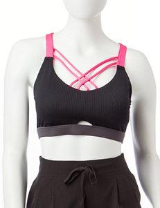 RBX Black / Pink Sports Bra