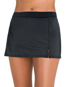 Caribbean Joe Black Swimsuit Bottoms Skirtini
