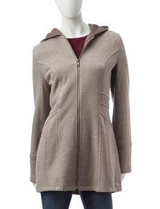 Valerie Stevens Brown Fleece & Soft Shell Jackets