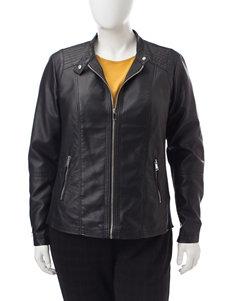 Valerie Stevens Black Bomber & Moto Jackets