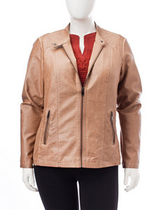 Valerie Stevens Tan Bomber & Moto Jackets
