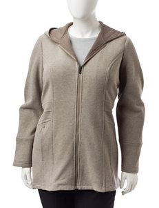 Valerie Stevens Plus-size Trapunto Zip Coat