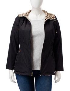 Valerie Stevens Plus-size Reversible Leopard Print Jacket