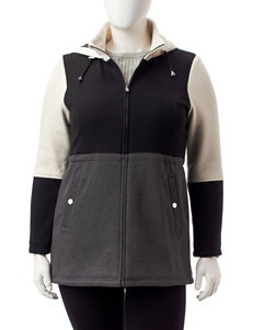 Valerie Stevens Grey Fleece & Soft Shell Jackets